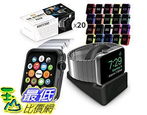 [105美國直購] Orzly Ultimate Face Plates Pack for Apple Watch (Pack of 20) (Assorted Colors) with Nightstand B00ZRVB08I