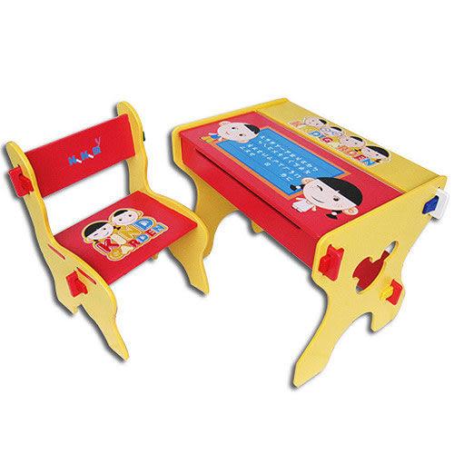【奇買親子購物網】Kikimmy小博士畫板書桌椅組