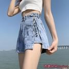 牛仔短褲 牛仔短褲女夏寬鬆新款寬管時尚薄款直筒高腰顯瘦-Ballet朵朵