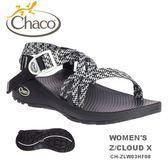 【速捷戶外】美國 Chaco  Z/CLOUD X 越野運動涼鞋 女款CH-ZLW03HF08 -雙織標準(鉤針黑),運動涼鞋,佳扣