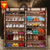 鞋櫃(6層)-實用雙排雙門大容量帆布鞋架6色73fu2【時尚巴黎】