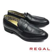 【REGAL】都會時尚樂福休閒鞋 黑色(50HR-BL)