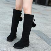 雪地靴 童鞋兒童靴子 新款高筒女童馬丁靴秋冬季小公主長靴二棉中大童 夢藝家