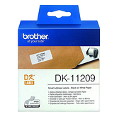 BROTHER 29x62mm DK-11209 耐用型紙質 白底黑字 原廠 定型標籤 標籤帶