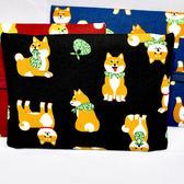 黑色 柴犬唐草 紙巾包 收納包 日本製 已附一包紙巾