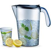 涼水壺 冷水壺塑料家用大容量果汁壺套裝耐高溫   igo 范思蓮恩