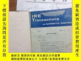 二手書博民逛書店IRE罕見Transactions on Automatic c
