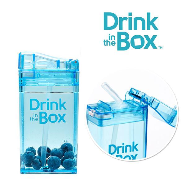 兒童戶外方形吸管水杯 / 水壺 235ml -海洋藍 - Drink in the box 加拿大