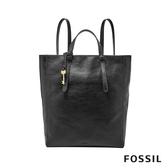 FOSSIL Camilla 真皮三用後背包 (可置入13吋筆電)-黑色 ZB7517001