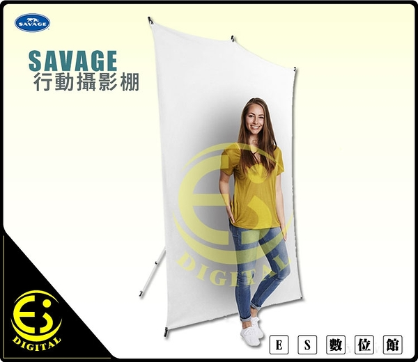 ES數位 Savage 1.52m x 2.13m kit 行動背景架套件 含腳架 行動背景架 無縫背景布 行動攝影棚