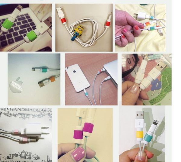 【線材防護】三入 創意i線套蘋果手機iphone5S6Plus數據線耳機保護套充電器【A00019】