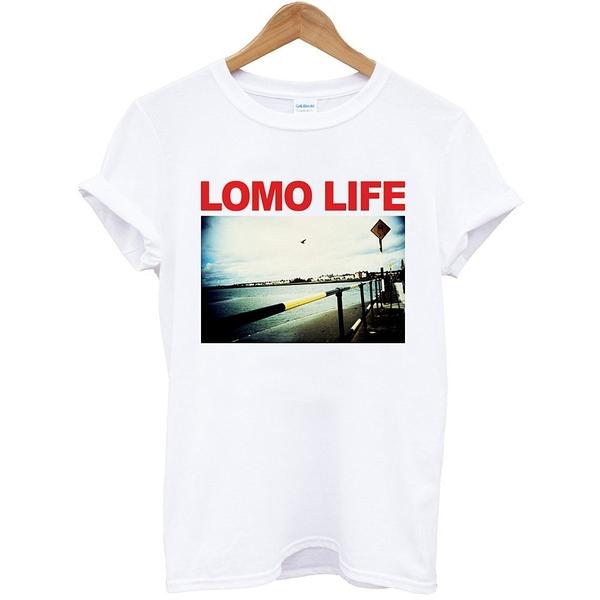 Lomo-Life Lomography短袖T恤-白色 照片相片人物搖滾風景樂團美國棉筒T現貨