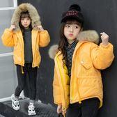 雙十二狂歡 女童棉衣加厚大毛領短款中大童冬裝外套防寒服輕薄時髦洋氣連帽新 挪威森林
