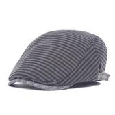 鴨舌帽-條紋休閒針織棉質男女貝雷帽73tv186【時尚巴黎】