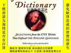 二手書博民逛書店【罕見】Samuel Johnson s DictionaryY27248 Jack Lynch Walker