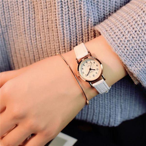 一件8折免運 手錶女學生休閒女正韓簡約潮流ulzzang復古style超薄大氣女士小錶