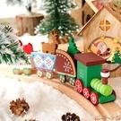 圣誕節裝飾品兒童圣誕禮物小禮品木質圣誕老人小火車桌面布置擺件 瑪奇哈朵