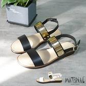 涼鞋 橫帶金色亮片涼鞋 MA女鞋 T7065