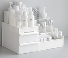 化妝盒 大號抽屜式化妝品收納盒桌面白色簡...