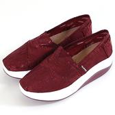 女款 SNAIL 酒紅色系輕量舒適厚底休閒懶人鞋 健走鞋 上班鞋 厚底鞋 59鞋廊