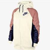 NIKE SPORTSWEAR 白粉紅 藍 棉質 連帽外套 女裝 拼接 AR6216-133-SPEEDKOBE-