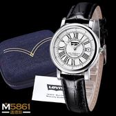 【Levis】Levi's 女錶 情侶錶系列 羅馬字設計 石英錶 經典盒裝/白錶面/33.5mm-女單