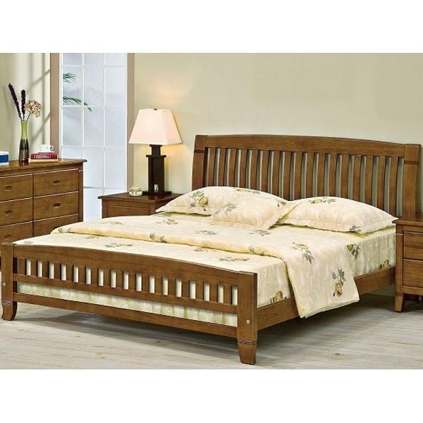 床架 床台 FB-535-1 巴比倫黃檀實木5尺床 (不含床墊) 【大眾家居舘】