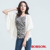 BOBSON 雪紡紗外衣-白色