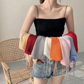 春夏2020新款韓版網紅洋氣外穿針織吊帶背心女顯瘦泫雅同款上衣潮