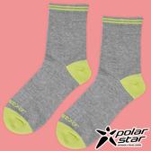 PolarStar 中性排汗中筒襪 露營.戶外.登山.排汗襪.彈性襪.紳士襪.休閒襪.長筒襪.襪子 - P17523 淺灰