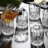 六隻裝無鉛加厚家用玻璃水杯子威士忌杯?石啤酒杯套裝烈酒洋酒杯 店家有好貨yi
