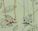 #項鍊#韓系明星款雙D超亮水鑽鎖骨鏈項鍊