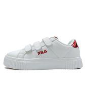 FILA Court Deluxe 女 紅 魔鬼氈 板鞋 增高 運動休閒鞋 復古 韓國流行款 小白鞋 5-C601S-200