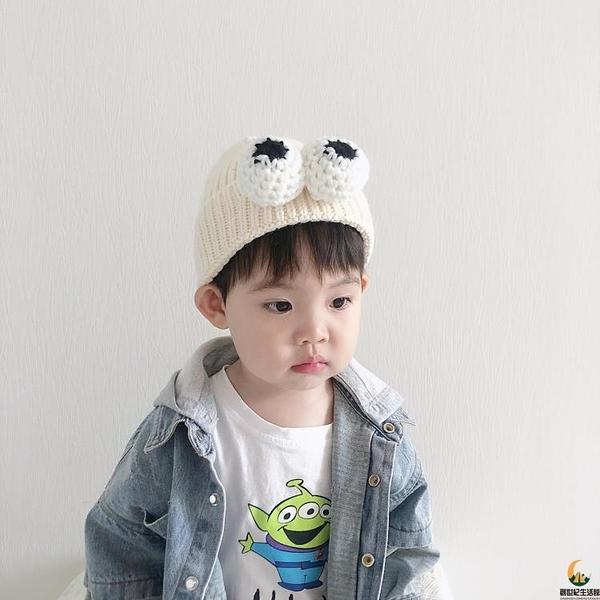 針織帽寶寶護耳帽嬰兒帽子秋冬套頭帽可愛兒童毛線帽男童女童卡通【創世紀生活館】