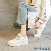 小白鞋子女鞋2020年夏季新款百搭學生薄款厚底白鞋透氣老爹帆布鞋 KP1195 【甜心小妮童裝】