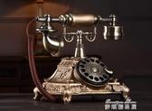 旋轉盤仿古歐式老式機復古家用時尚創意有線機座機 麥琪精品屋