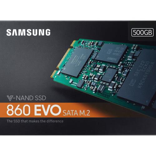 SAMSUNG 三星 860 EVO M.2 500GB MZ-N6E500BW SSD SATA3 固態硬碟