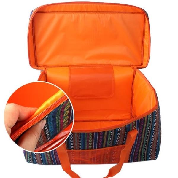 SELPA 戶外大容量露營包 民族風保溫包 加厚收納箱 野餐袋 工具包【狐狸跑跑】