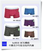 [多件優惠] RC有機棉中腰青少年貼身短四角褲 適合腰圍 79~81cms