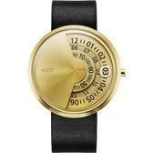odm PALETTE 靜謐星空科幻新奇手錶-金x黑/43mm DD171-05