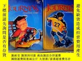 二手書博民逛書店Journeys:罕見Common Core(4.5)兩本合售精裝Y12530 common core HOU