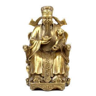 純銅財神爺擺件聚寶盆招財進寶擺設