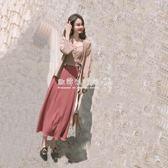 初秋裝早秋女秋季俏皮網紅女神范小香風裙子兩件套裝時尚 『歐韓流行館』