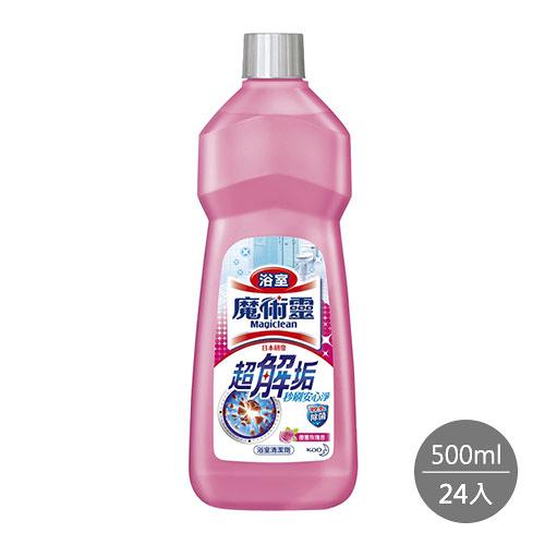 魔術靈浴室清潔劑 優雅玫瑰 經濟瓶500ML x 24入
