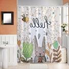 浴間浴簾套裝免打孔加厚防霉防水簾浴室衛生間掛簾洗澡隔斷簾子布