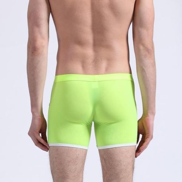 男士內褲代發 AIBC男士超薄冰絲真口袋齊腿男式大平角褲06QT