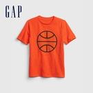 Gap男童 運動活力圓領短袖T恤 682102-橘色