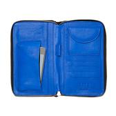 【LILI RADU】德國新銳時尚設計品牌 手工雙色小牛皮時尚手拿多功能手機包 錢包(簡約黑)