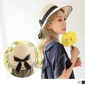 《ZB0554》質感優雅大蝴結設計草帽 OrangeBear