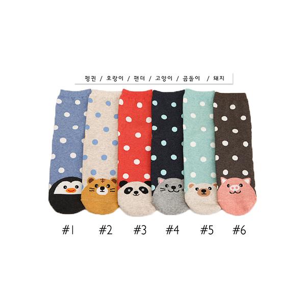 韓國動物水波點造型短襪-多款任選 (SOCK-170-W)
